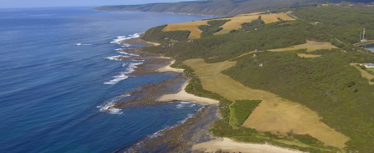 Seatrees Aerial with Cape Otway